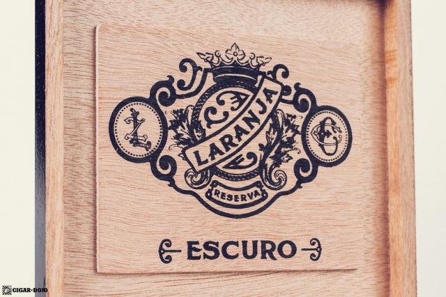 Espinosa Laranja Reserva Escuro Corona Gorda cigar box lid interior