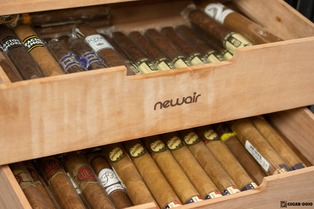 NewAir CC-300H humidor open drawers