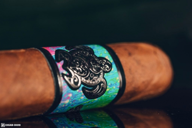 Psychedelic Turtle cigar band