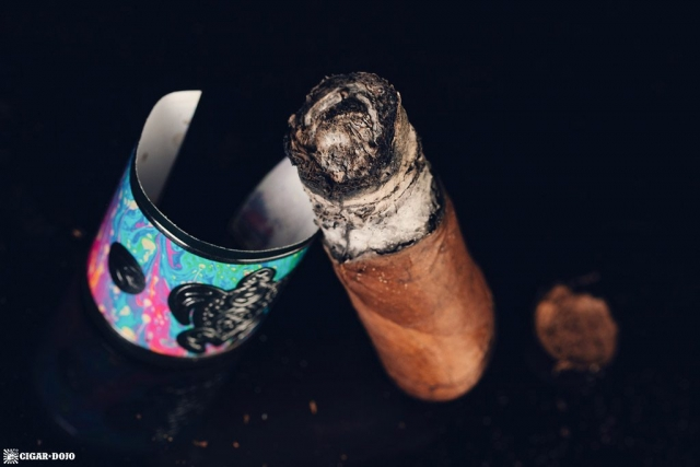 Psychedelic Turtle cigar nub finished