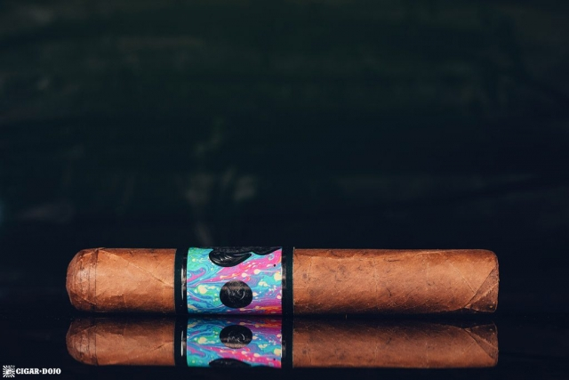Psychedelic Turtle cigar side view