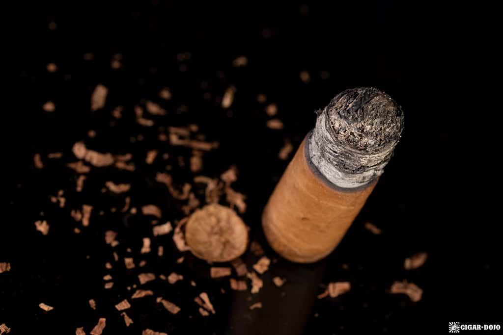 JRE Aladino Connecticut Robusto cigar nub finished