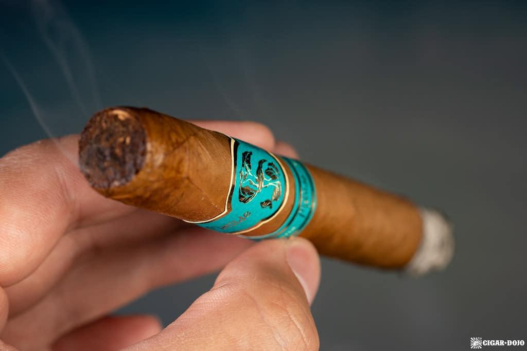 Matilde Serena Corona cigar smoking