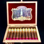 Cubariqueño Cigar Co. Protocol Sir Robert Peel Maduro box open
