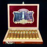 Cubariqueño Cigar Co. Protocol Sir Robert Peel Natural box open