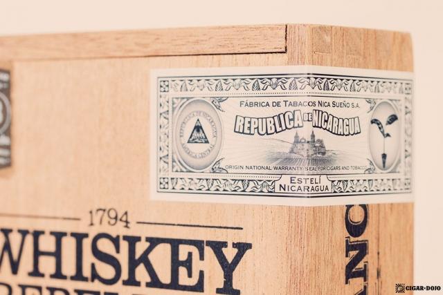 RoMa Craft Whiskey Rebellion 1794 Pennsatucky cigar box factory seal