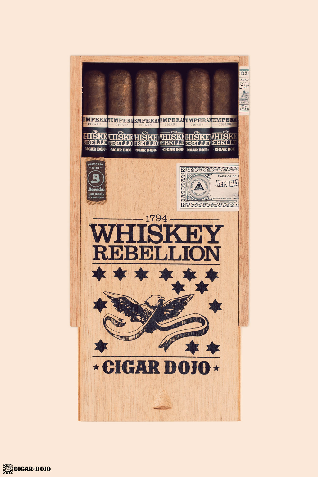 RoMa Craft Whiskey Rebellion 1794 Pennsatucky cigar box glamour