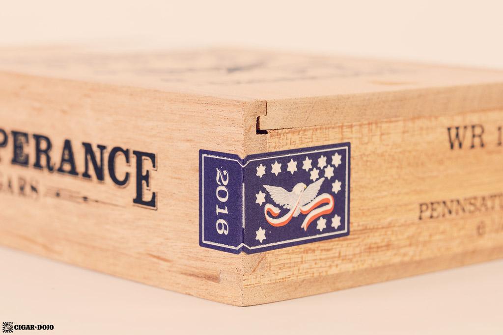 RoMa Craft Whiskey Rebellion 1794 Pennsatucky cigar box seal