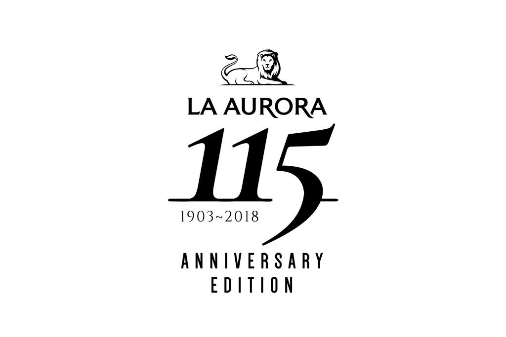 La Aurora 115 Anniversary logo