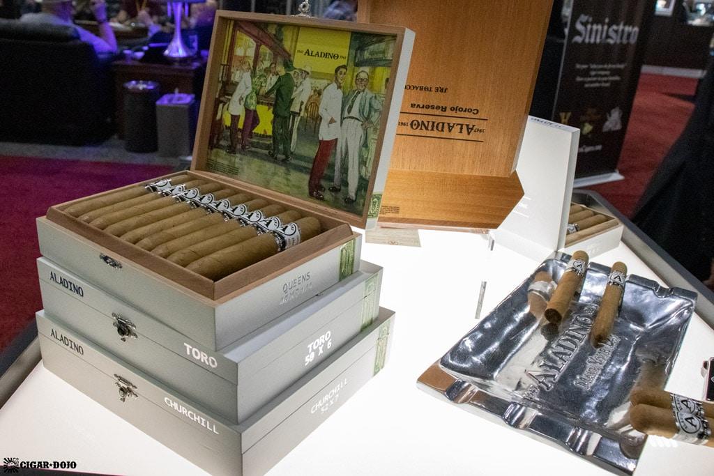 Aladino Connecticut cigar display IPCPR 2019