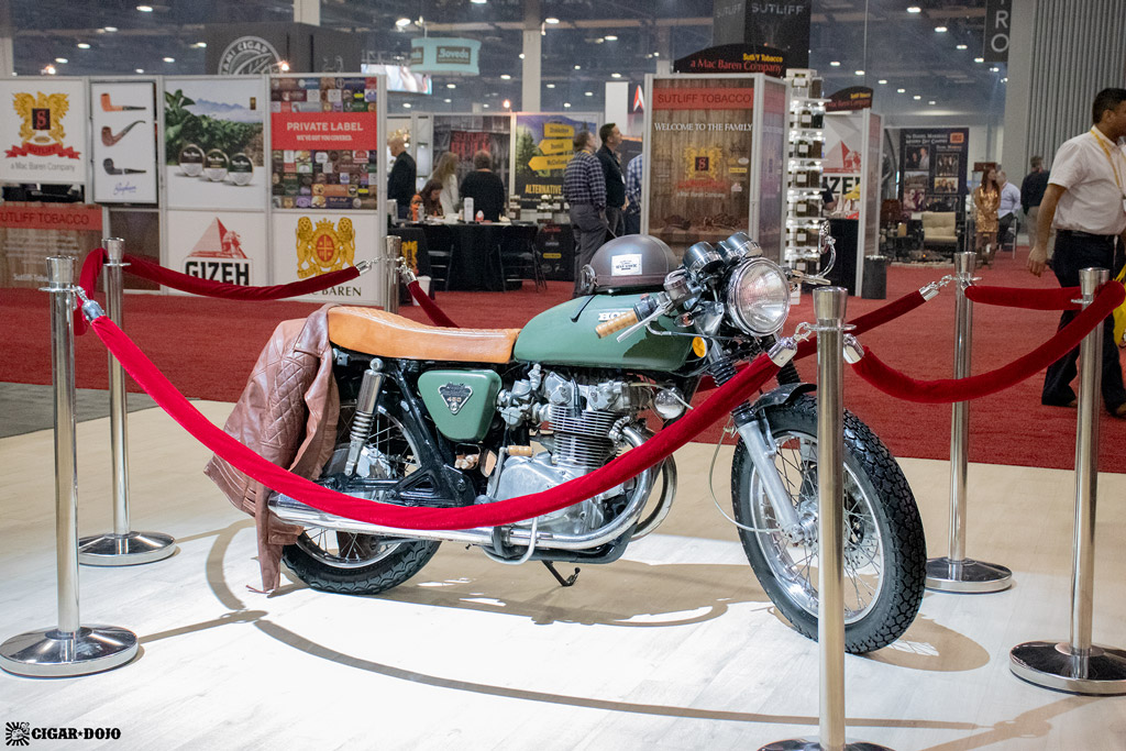 Altadis USA booth Honda motorcycle IPCPR 2019
