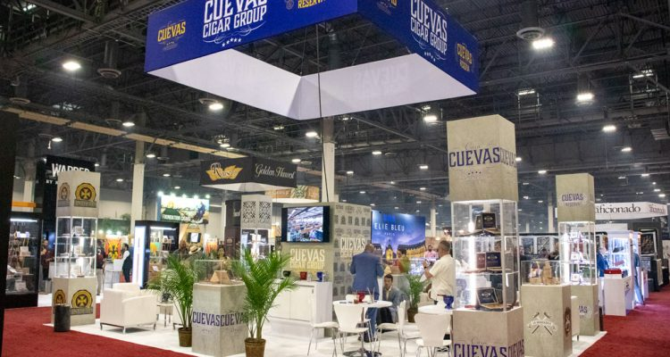 Cuevas Cigar Group booth IPCPR 2019