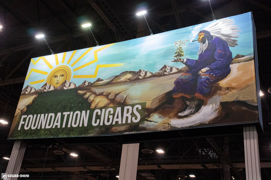 Foundation Cigar Company booth banner IPCPR 2019