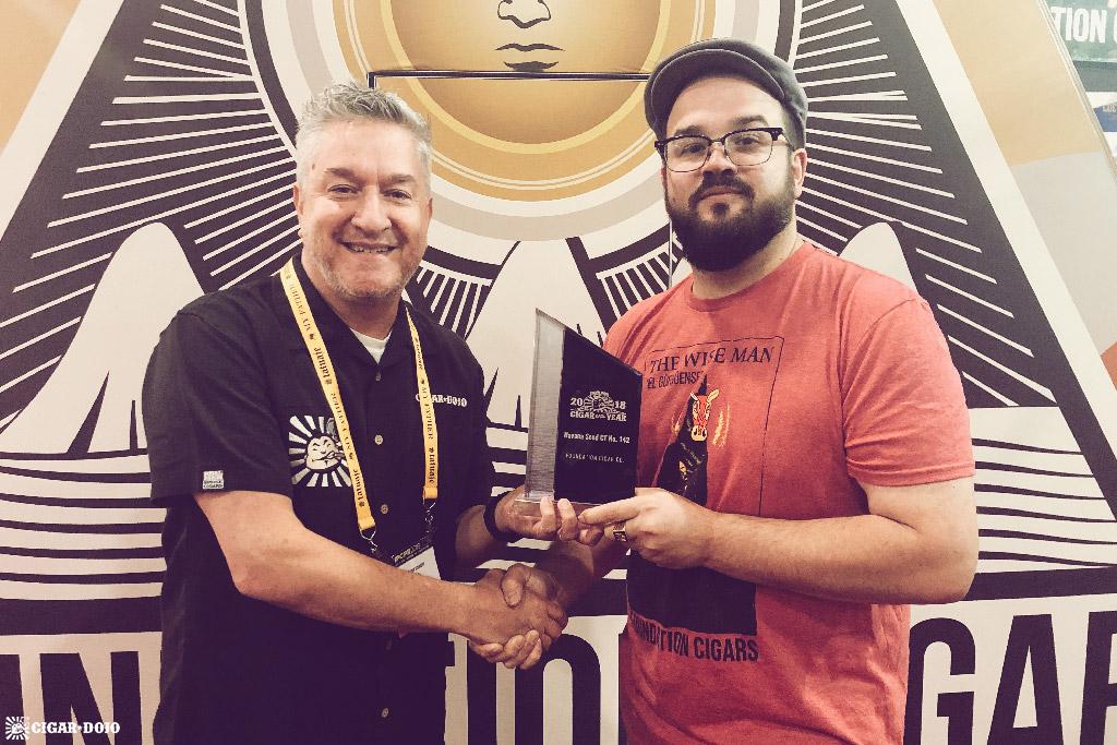 Foundation Cigar Co. Nick Melillo COTY 2018 award ceremony IPCPR 2019