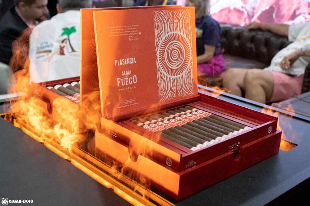 Plasencia Cigars Alma del Fuego cigar display IPCPR 2019