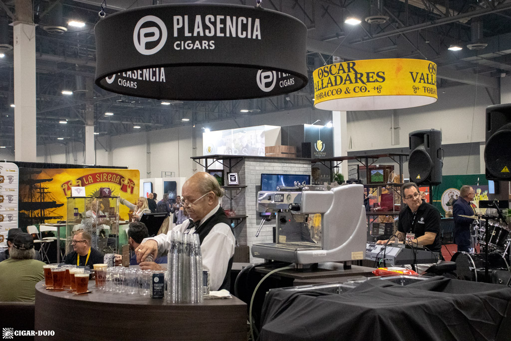 Plasencia Cigars booth activities IPCPR 2019