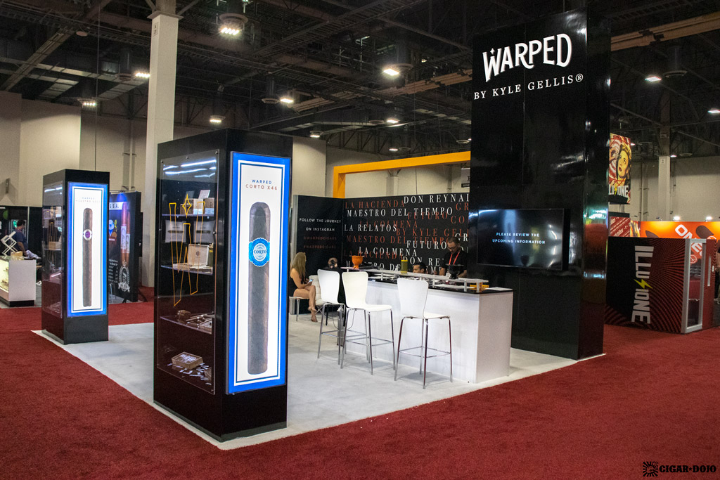 Warped Cigars booth IPCPR 2019