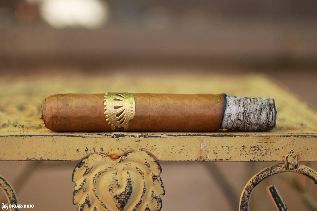 Dunbarton Sobremesa Brûlée Robusto cigar ash