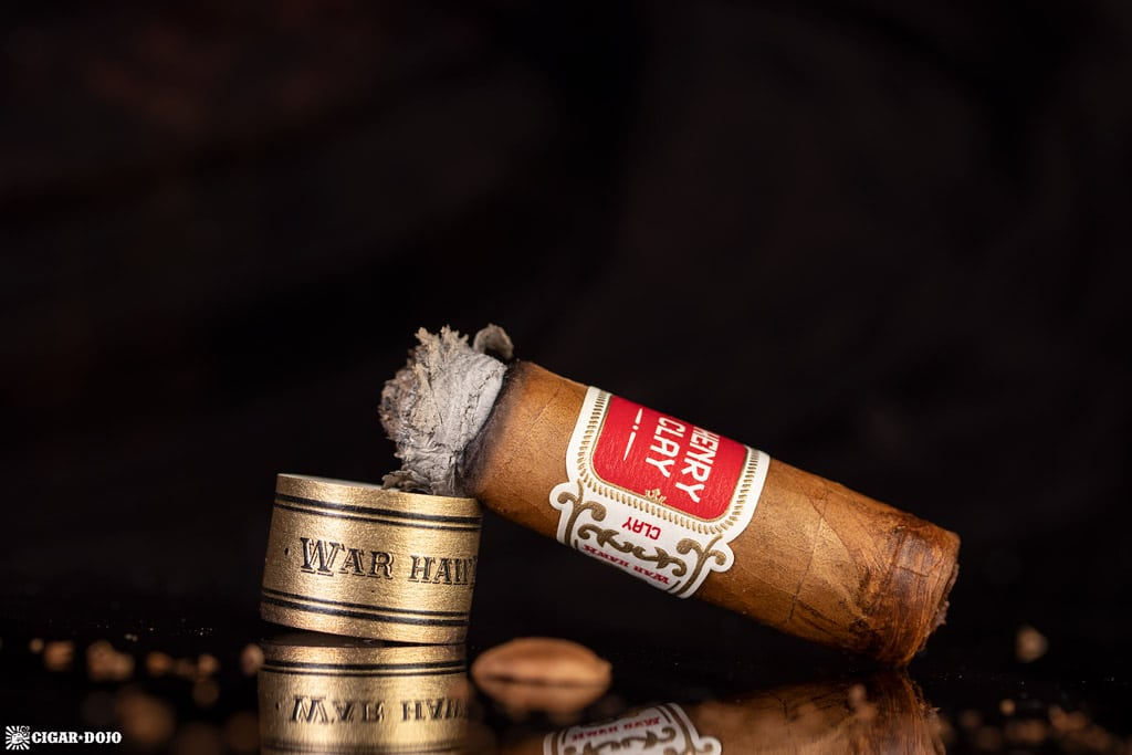 Henry Clay War Hawk Corona cigar nub finished