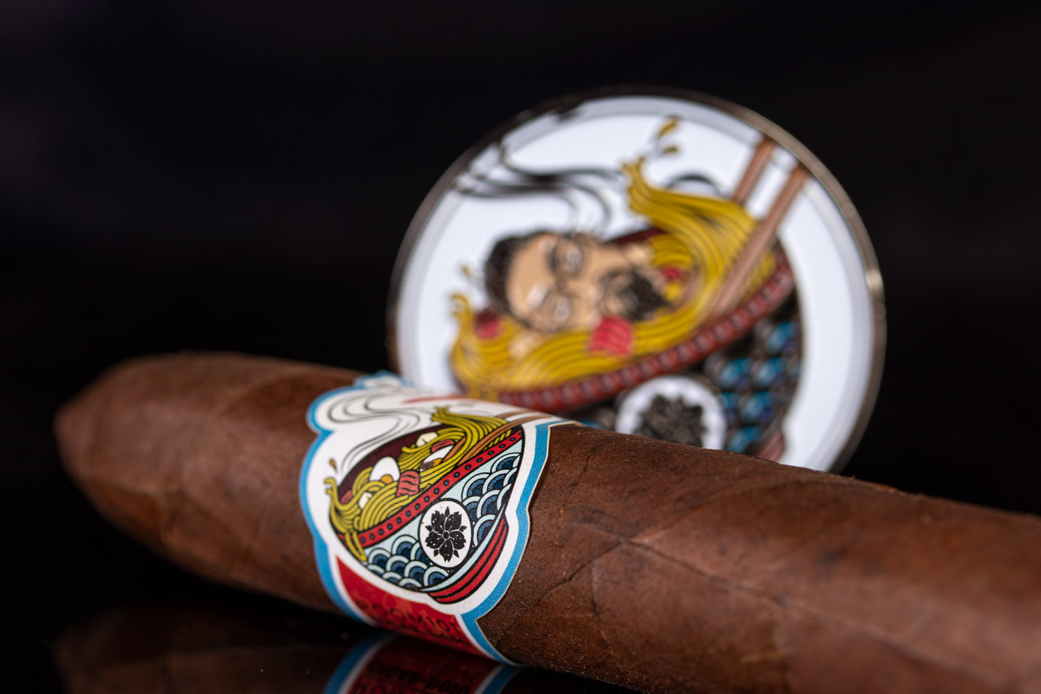 Cigar Dojo Room101 [untitled] 2019 cigar and challenge coin