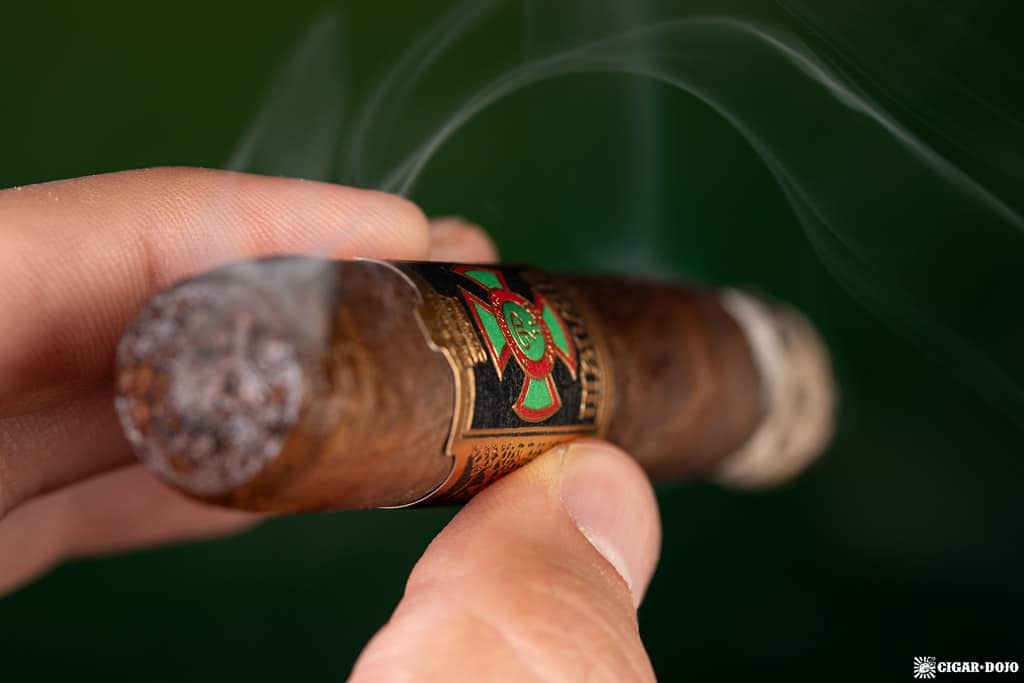 Foundation Cigar Company Menelik cigar smoking