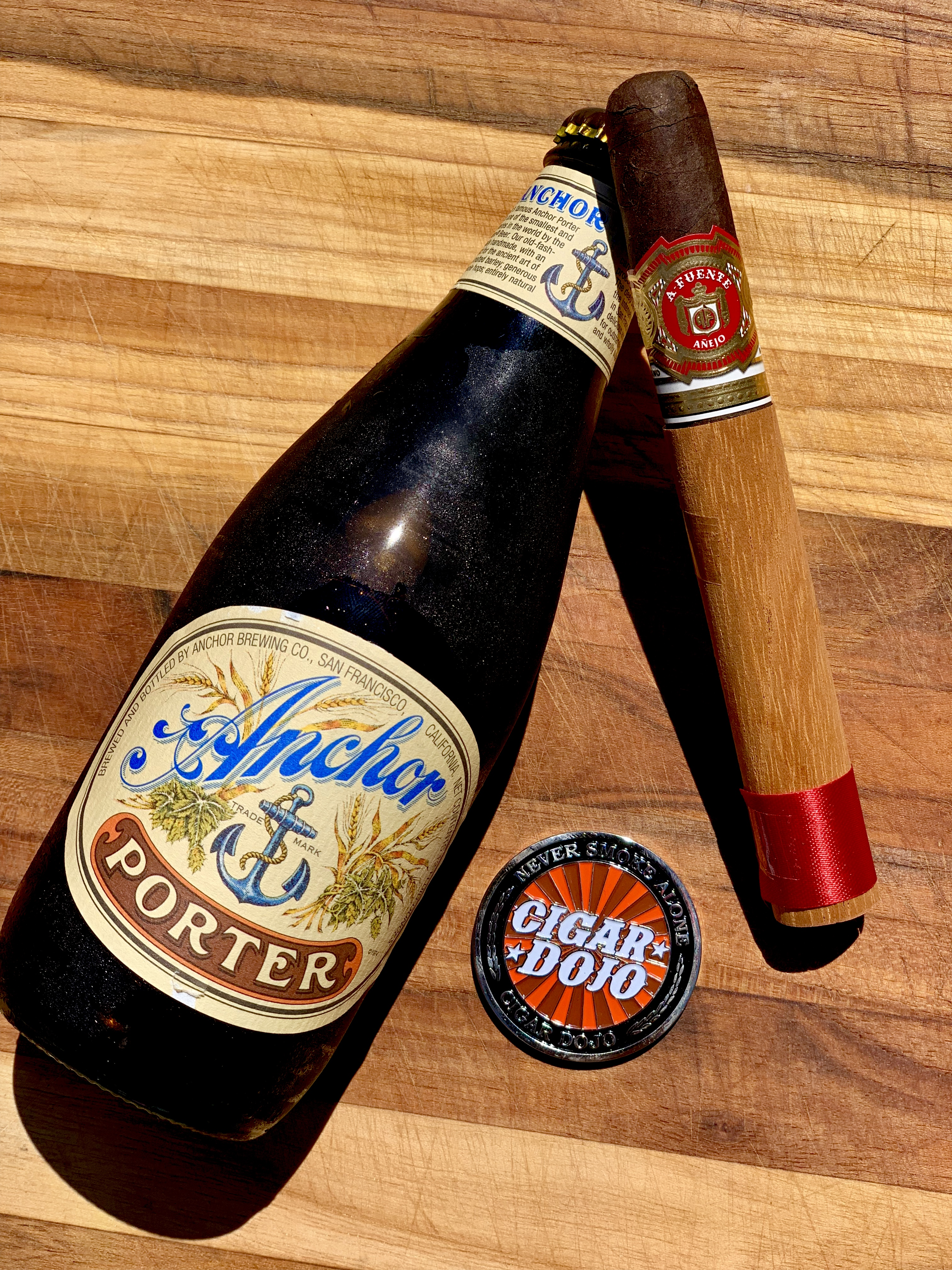 Anchor Porter Arturo Fuente Añejo cigar pairing
