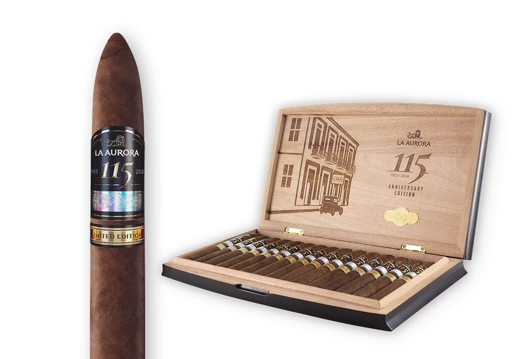 La Aurora 115 Anniversary Limited Edition Belicoso box open