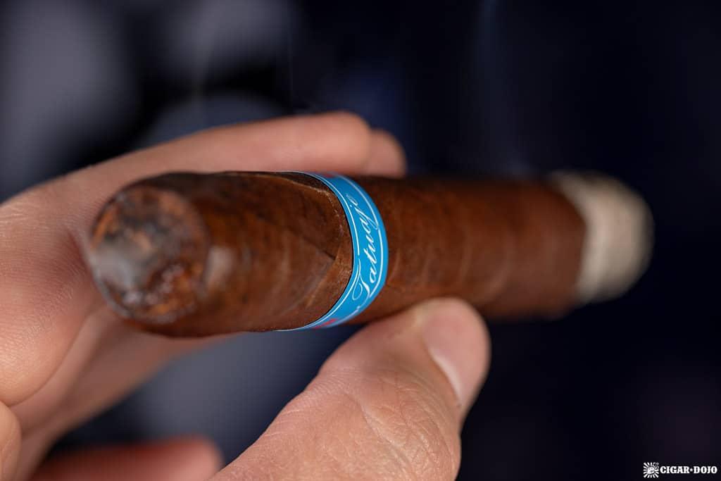 Tatuaje Chuck No. 11 cigar smoking
