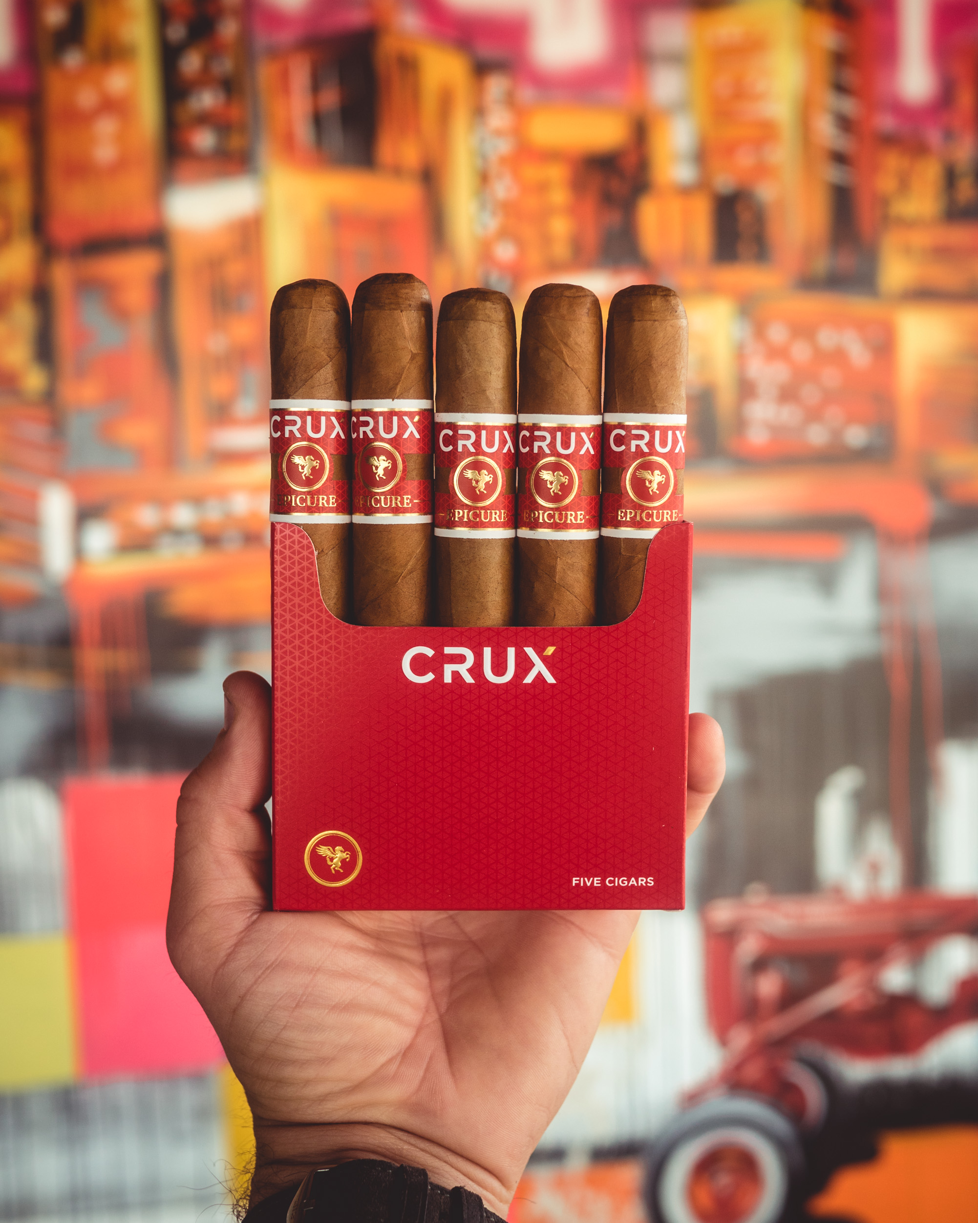 Crux Cigars 5-pack rebranded layout