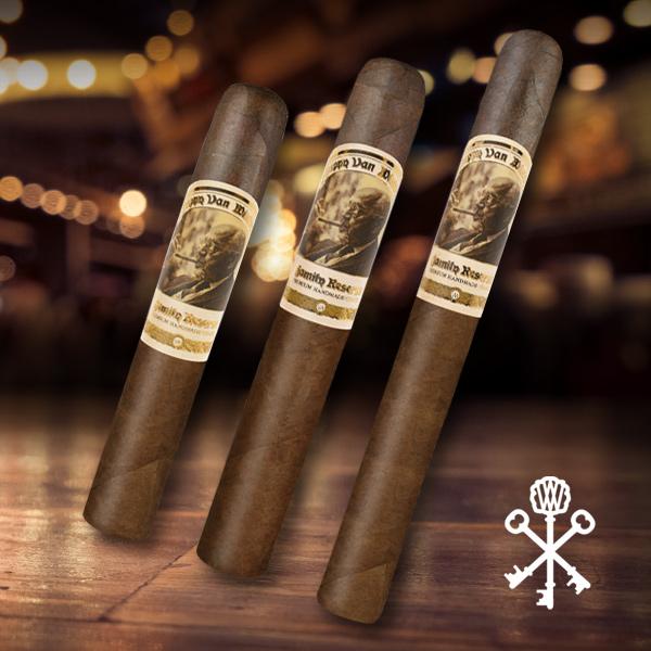 Drew Estate Pappy Van Winkle's Family Reserve Barrel Fermented cigar sizes