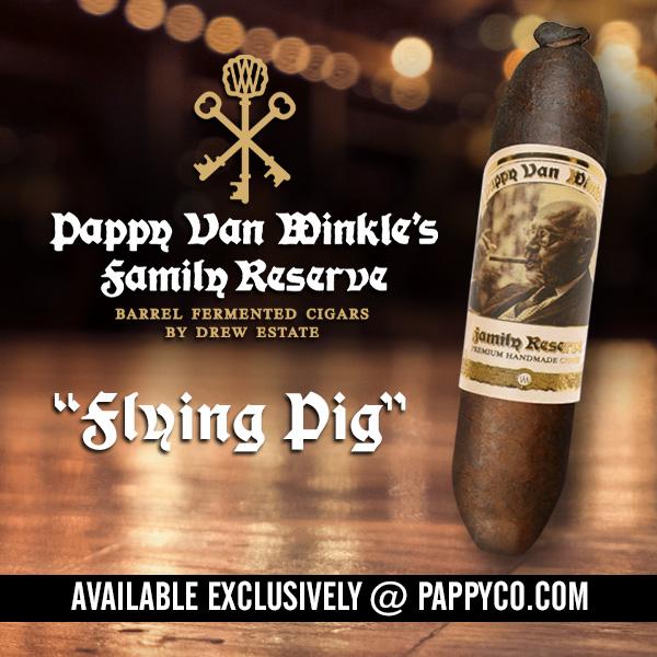 Drew Estate Pappy Van Winkle's Family Reserve Barrel Fermented Flying Pig cigar