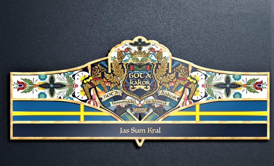 Jas Sum Kral Söta Kakor cigar band artwork