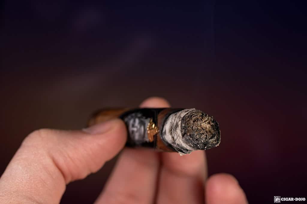 Alec & Bradley Gatekeeper Corona cigar ash