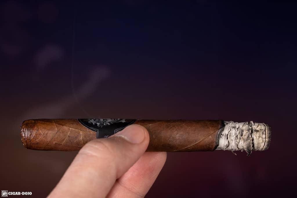 Alec & Bradley Gatekeeper Corona cigar smoking
