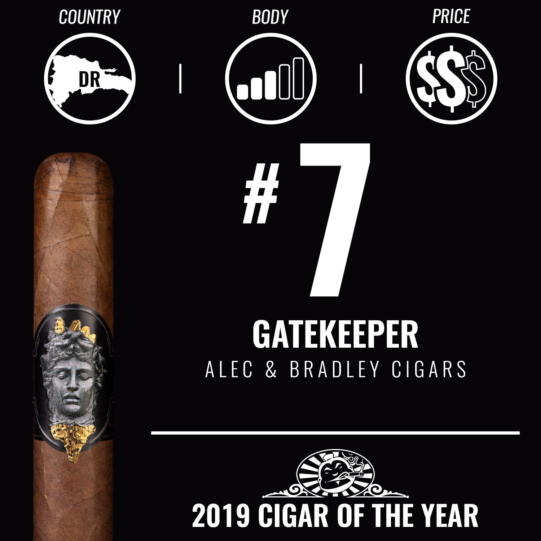 Alec & Bradley Gatekeeper No. 7 Cigar of the Year 2019