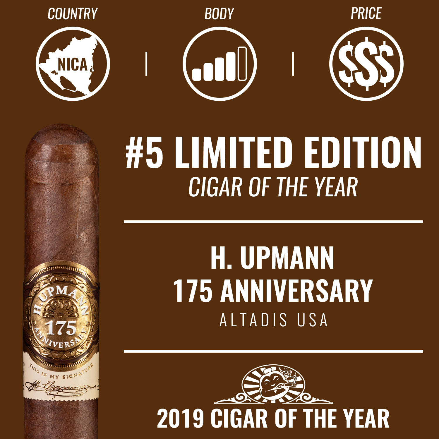 H. Upmann 175 Anniversary No. 5 Limited Edition Cigar of the Year 2019