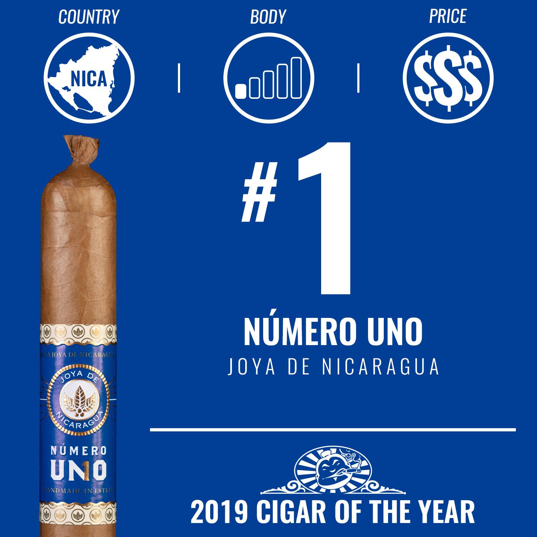 Joya de Nicaragua Número Uno No. 1 Cigar of the Year 2019