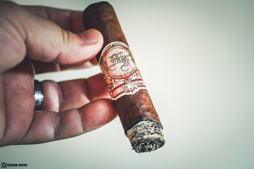 My Father La Promesa Toro cigar ash