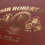 Cubariqueño Protocol Sir Robert Peel Natural cigar box lid