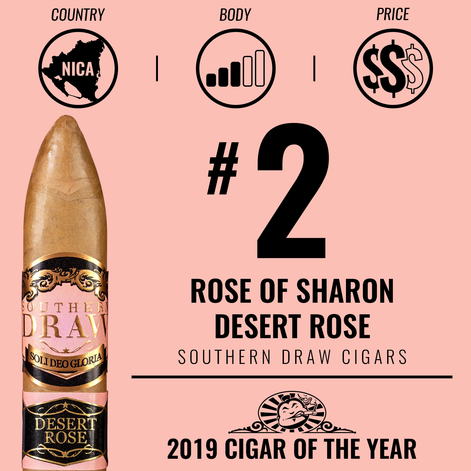 Southern Draw Rose of Sharon Desert Rose No. 2 Cigar of the Year 2019