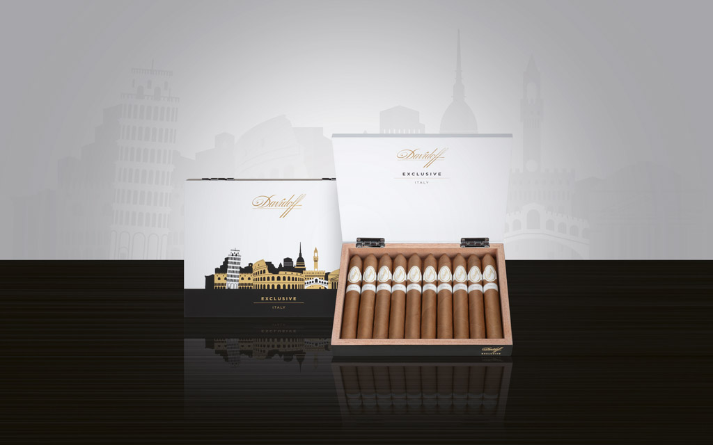 Davidoff Exclusive Editions 2020 Italy cigar box open