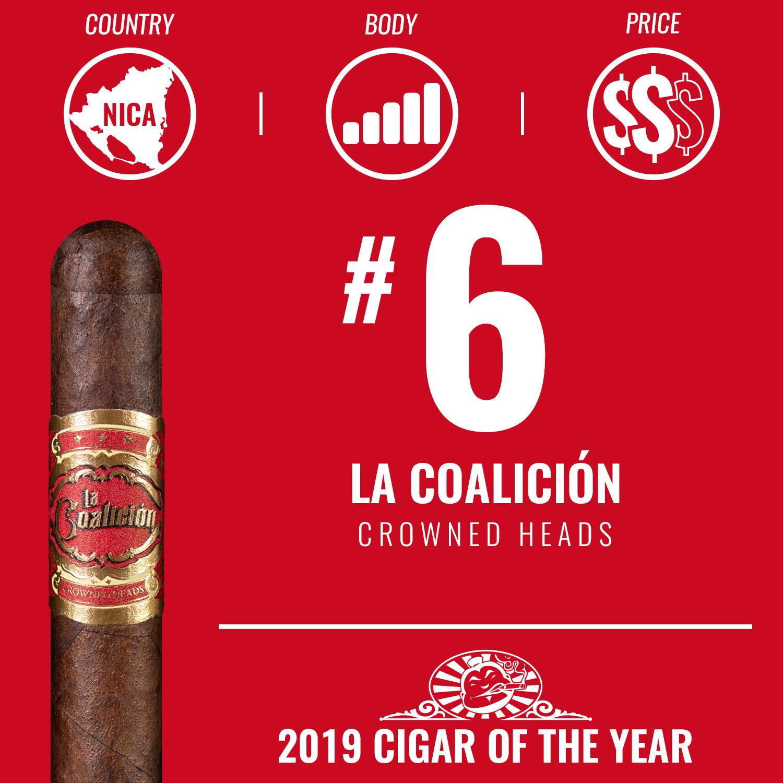 Crowned Heads La Coalición No. 6 Cigar of the Year 2019