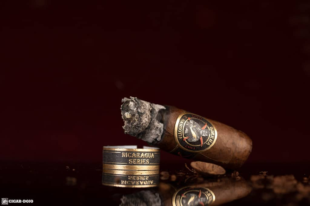 Gurkha Nicaragua Series Robusto cigar nub finished