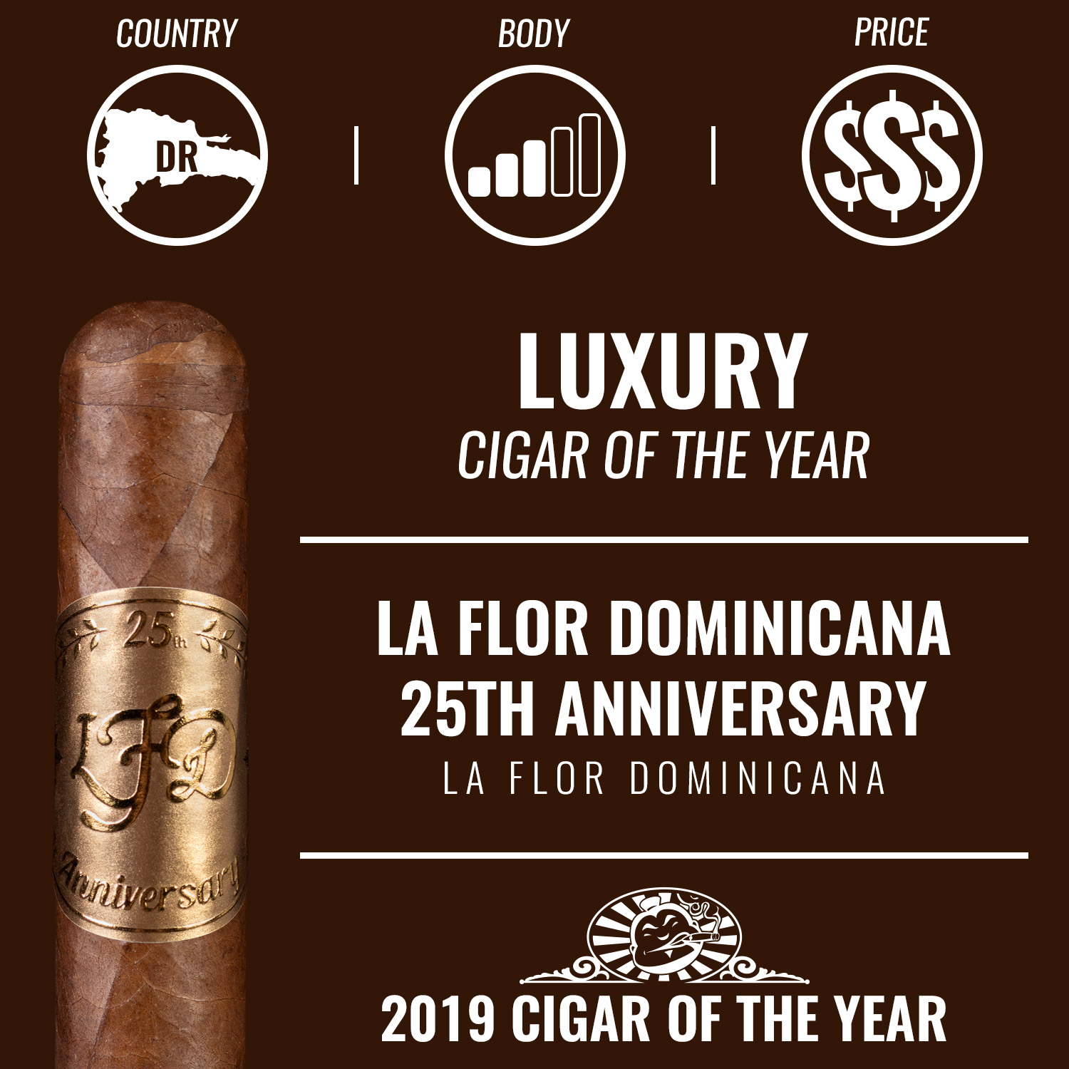 La Flor Dominicana 25th Anniversary Luxury Cigar of the Year 2019
