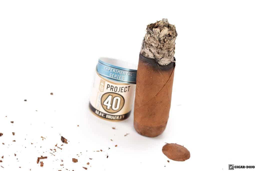 Alec Bradley Project 40 Robusto cigar nub finished
