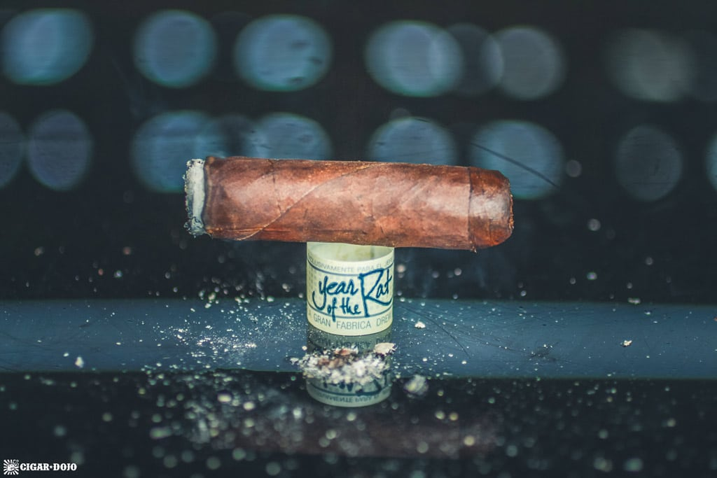 Drew Estate Liga Privada Único Serie Year of the Rat cigar nub finished