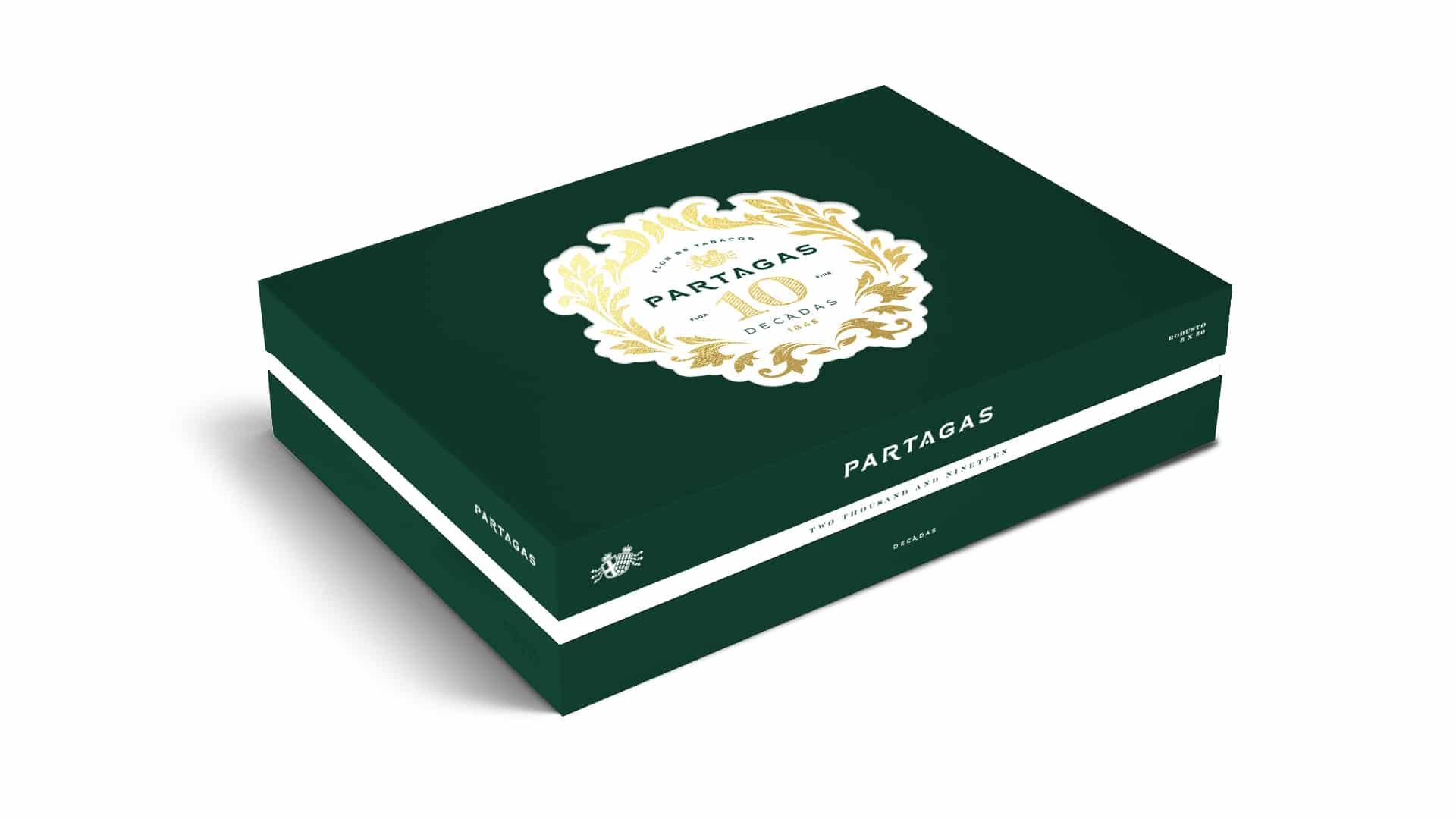 Partagas Limited Reserve Decadas 2019 cigar box