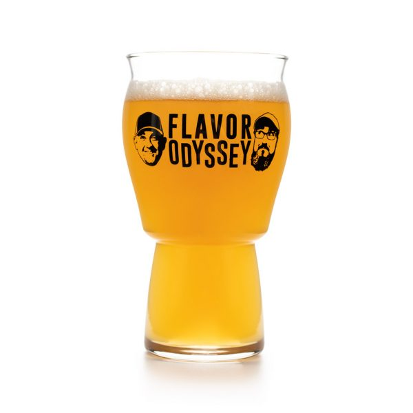 A Flavor Odyssey 2020 beer glass front