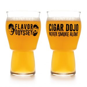 A Flavor Odyssey 2020 beer glass front and back