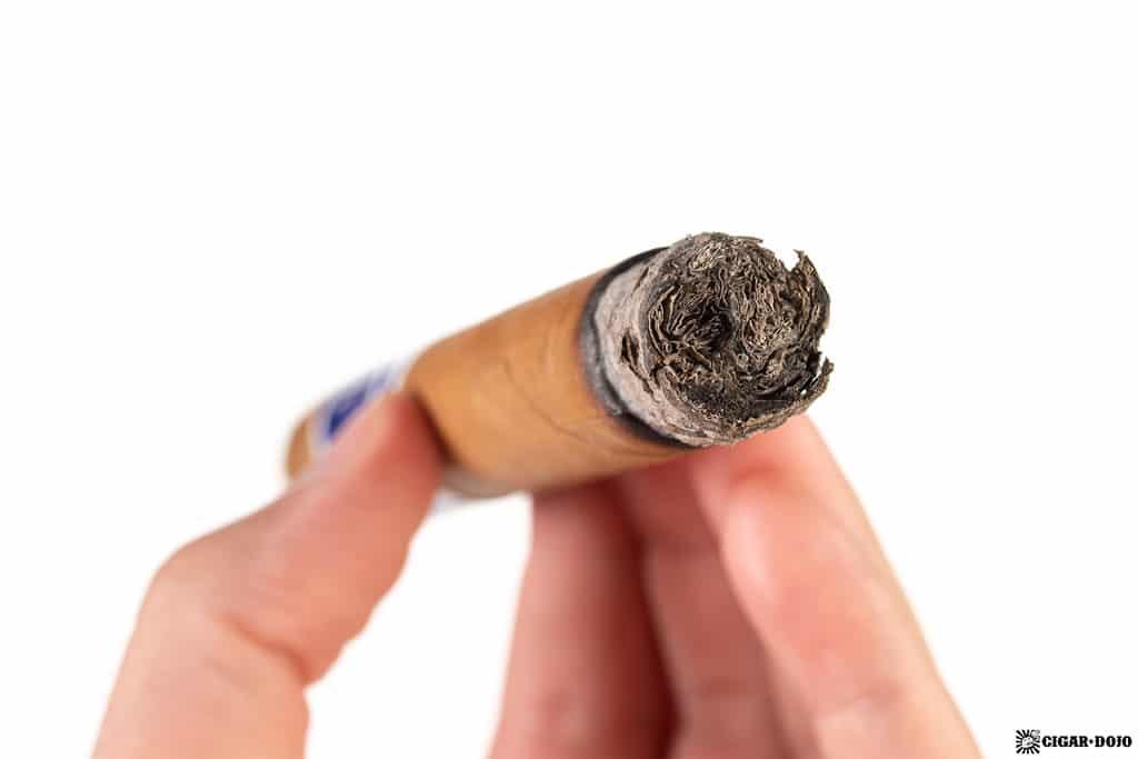 Cuevas Reserva Natural Torpedo cigar ash